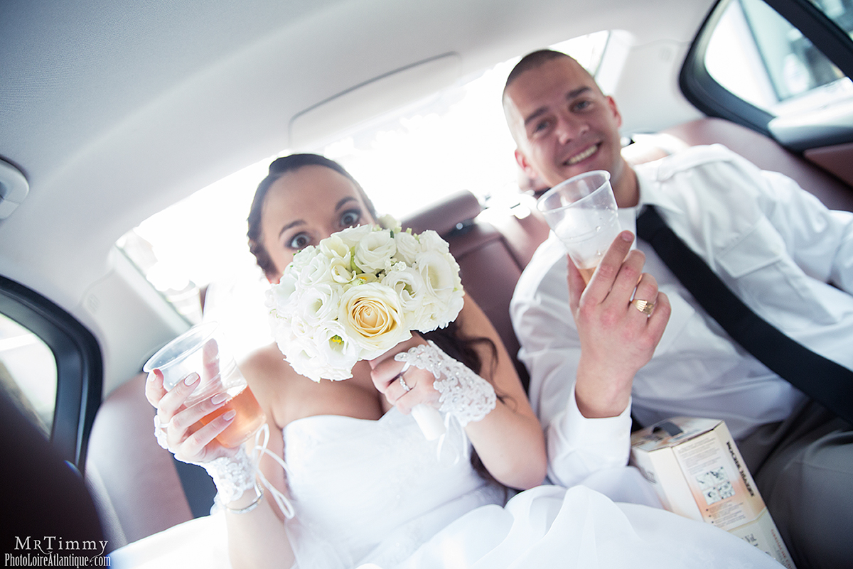 fun in the car mariage