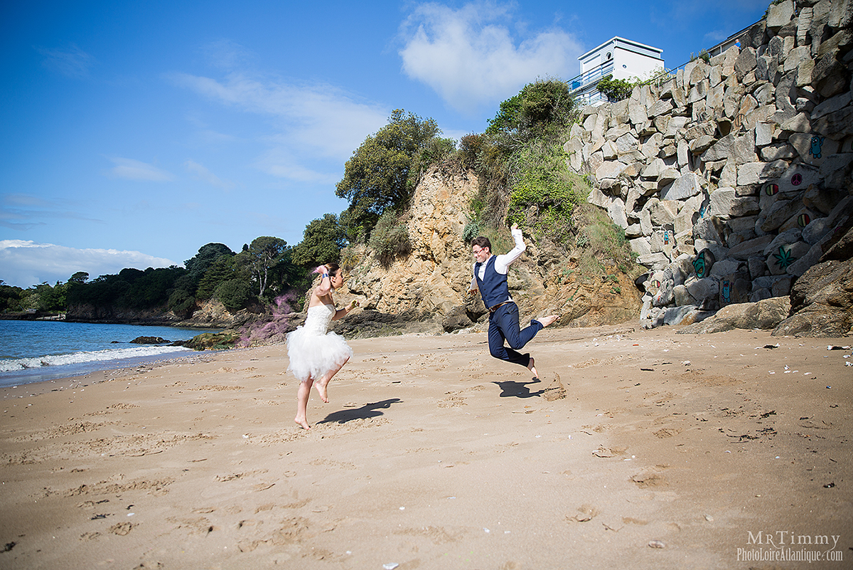 trash the dress plage poudre colore mariage saint nazaire loire atlantique mrtimmy photographe fun crazy original photos couples