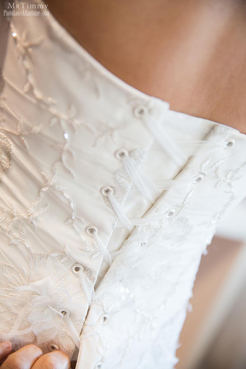 robe blanche mariée laçage la bauel photographe mrtimmy