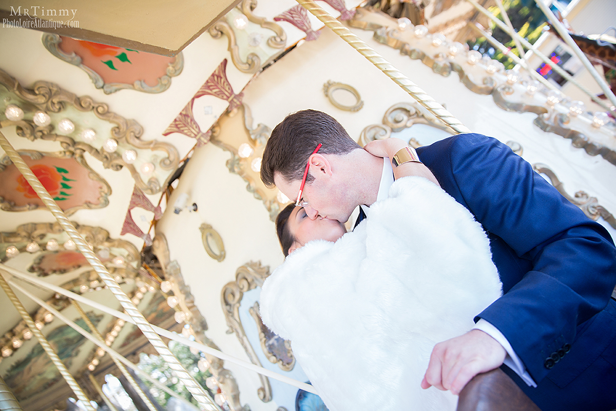carrousel la baule photo couple mariage niviac saint nazaire loire atlantique la baule mrtimmy photographe